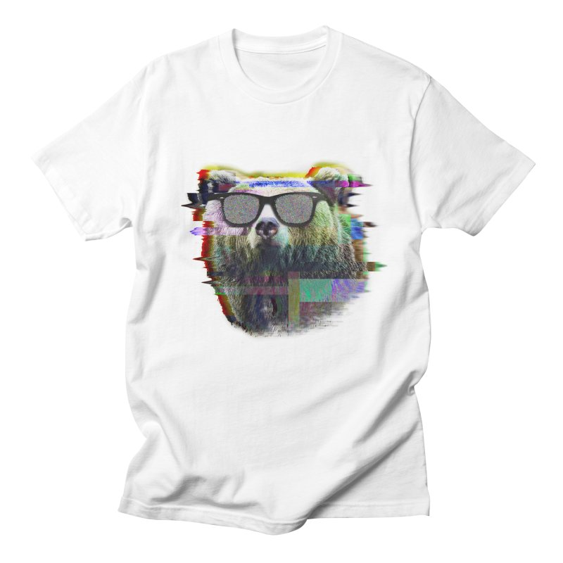 Bear Summer Glitch Men's T-shirt by sknny