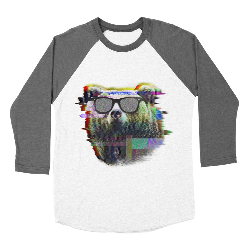Bear Summer Glitch Women's Baseball Triblend T-Shirt by sknny