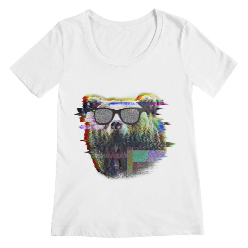 Bear Summer Glitch Women's Scoopneck by sknny