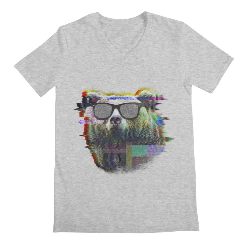 Bear Summer Glitch Men's V-Neck by sknny
