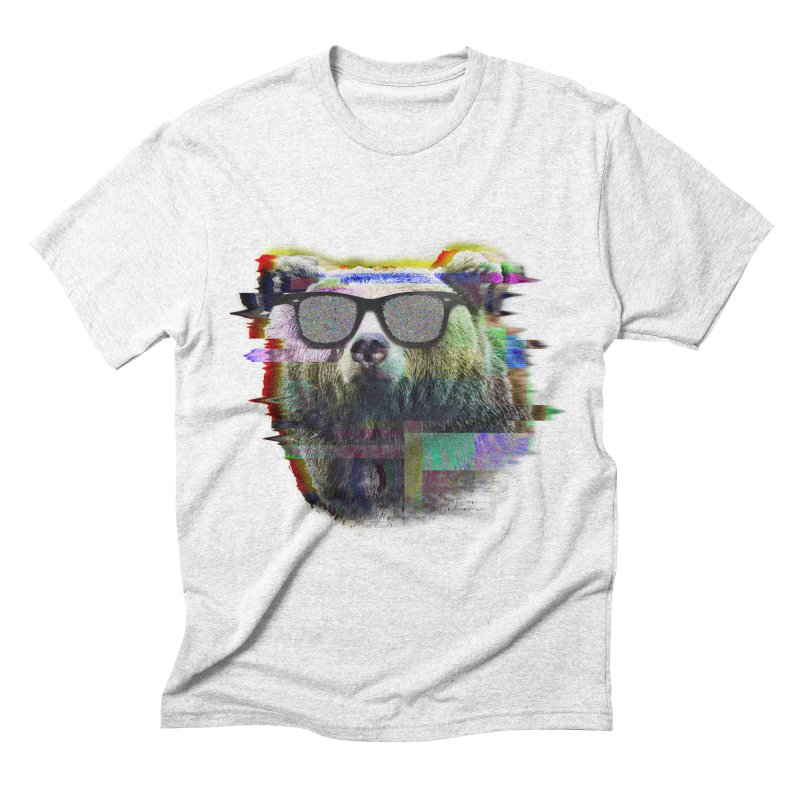 Bear Summer Glitch Men's Triblend T-shirt by sknny