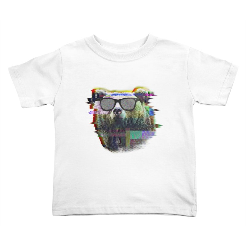 Bear Summer Glitch Kids Toddler T-Shirt by sknny