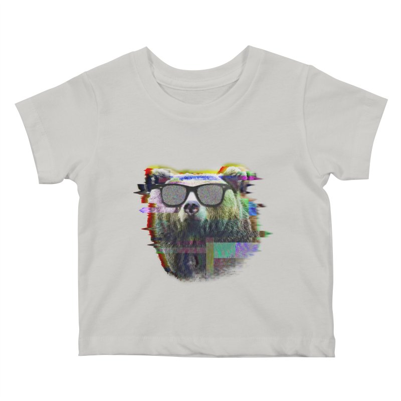 Bear Summer Glitch Kids Baby T-Shirt by sknny