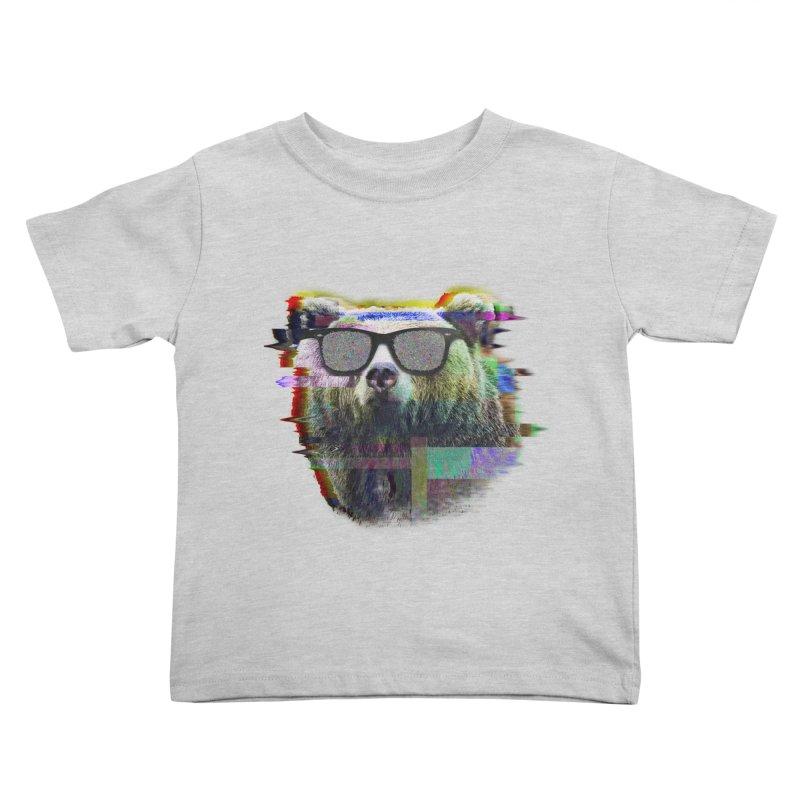 Bear Summer Glitch Kids Toddler T-Shirt by sknny