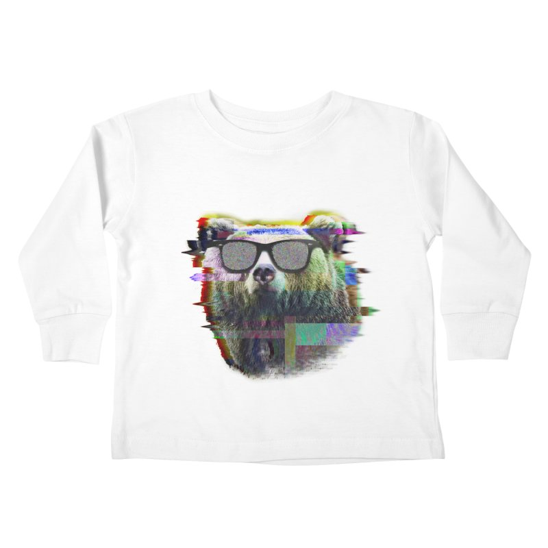 Bear Summer Glitch Kids Toddler Longsleeve T-Shirt by sknny