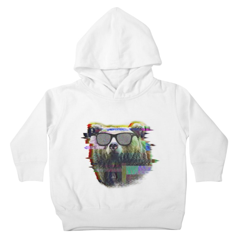 Bear Summer Glitch Kids Toddler Pullover Hoody by sknny