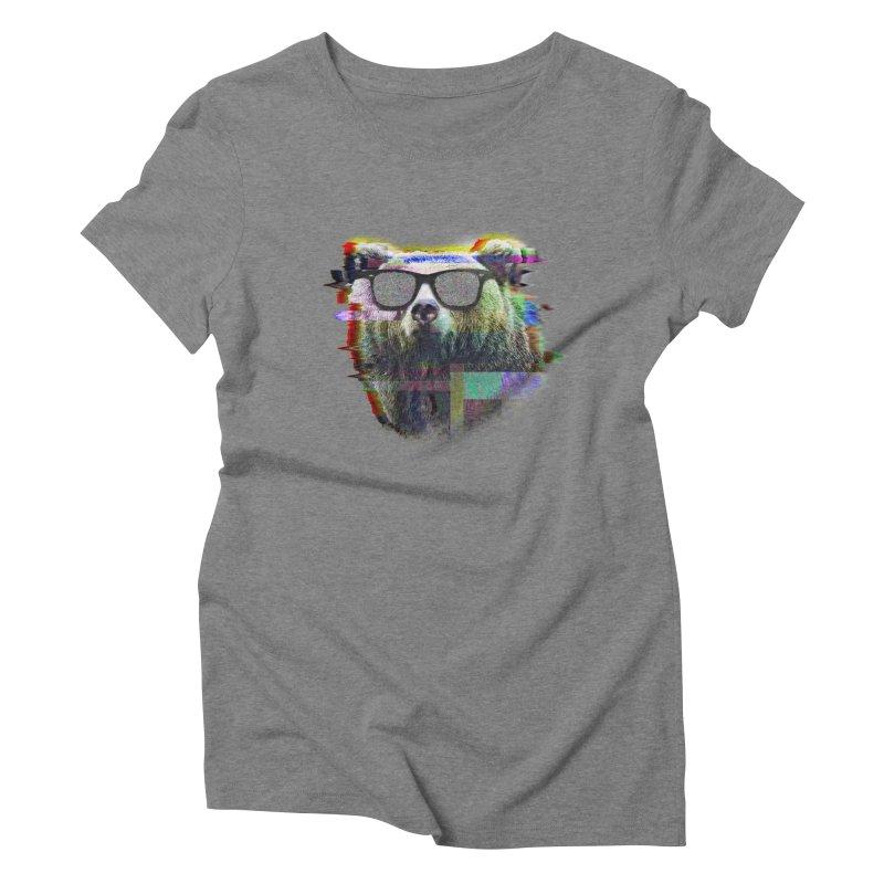 Bear Summer Glitch Women's Triblend T-shirt by sknny