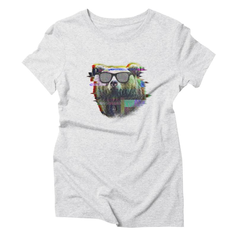 Bear Summer Glitch Women's Triblend T-Shirt by sknny