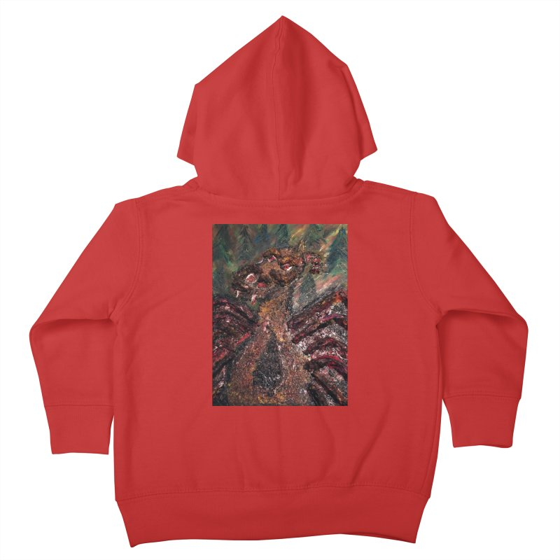 The Jersey Devil Kids Toddler Zip-Up Hoody by skullivan's Artist Shop