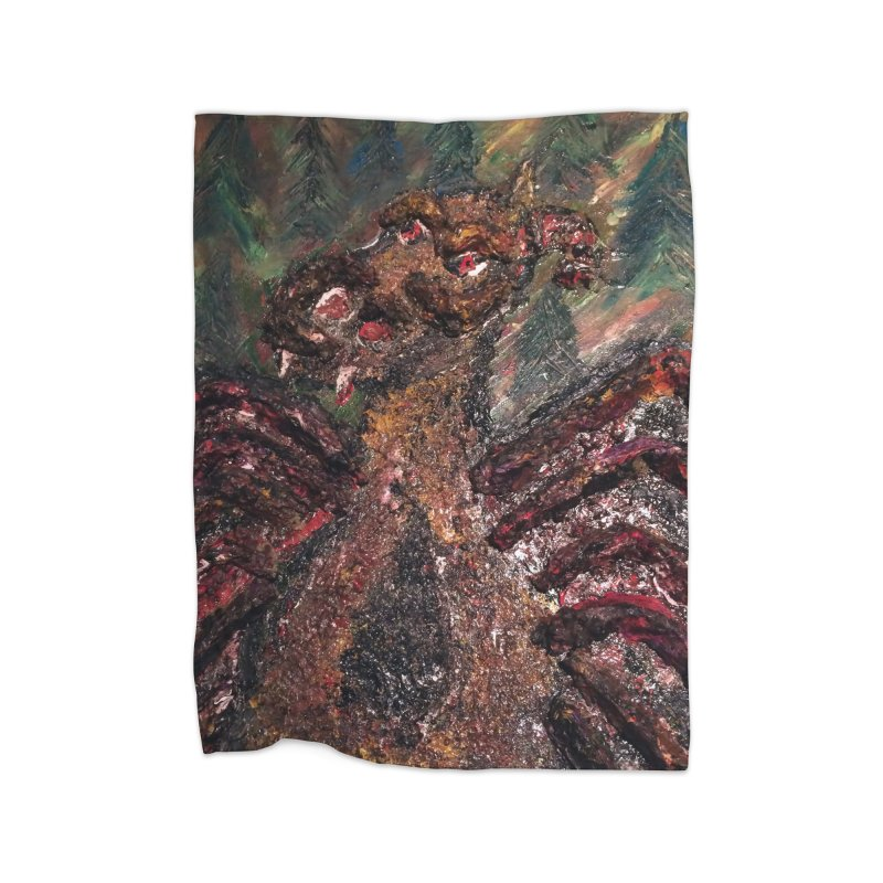 The Jersey Devil Home Blanket by skullivan's Artist Shop