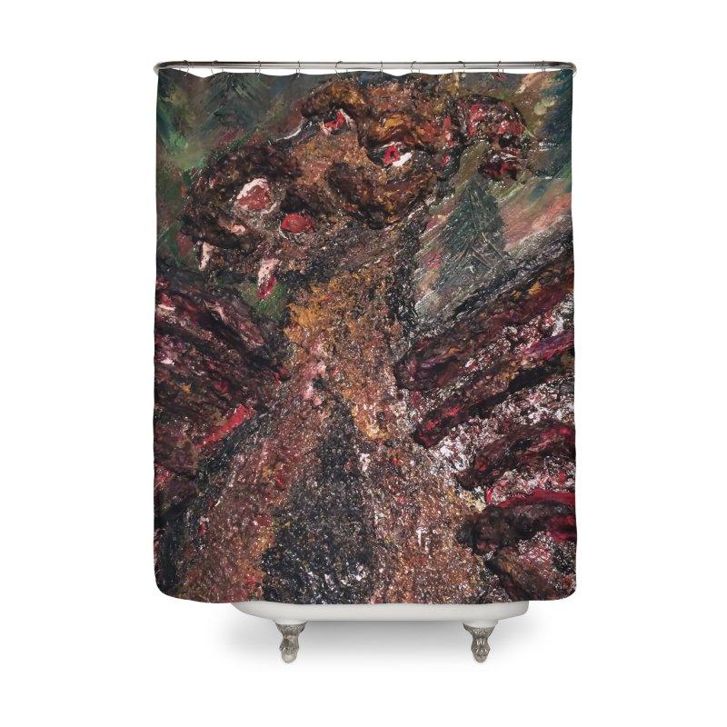 The Jersey Devil Home Shower Curtain by skullivan's Artist Shop