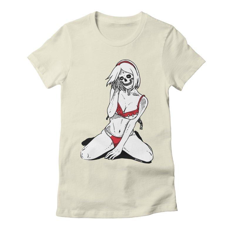 Sexy No Jutsu Sakura Women's Fitted T-Shirt by skullpel illustrations's Artist Shop