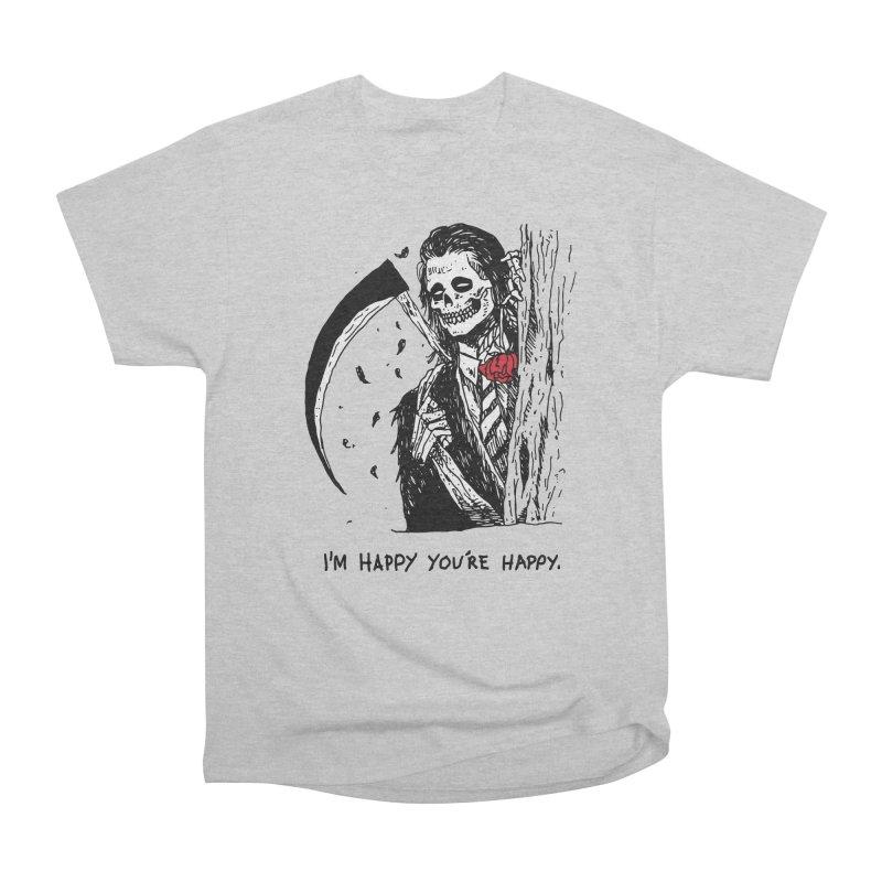 I'm Happy You're Happy Men's Heavyweight T-Shirt by skullpel illustrations's Artist Shop