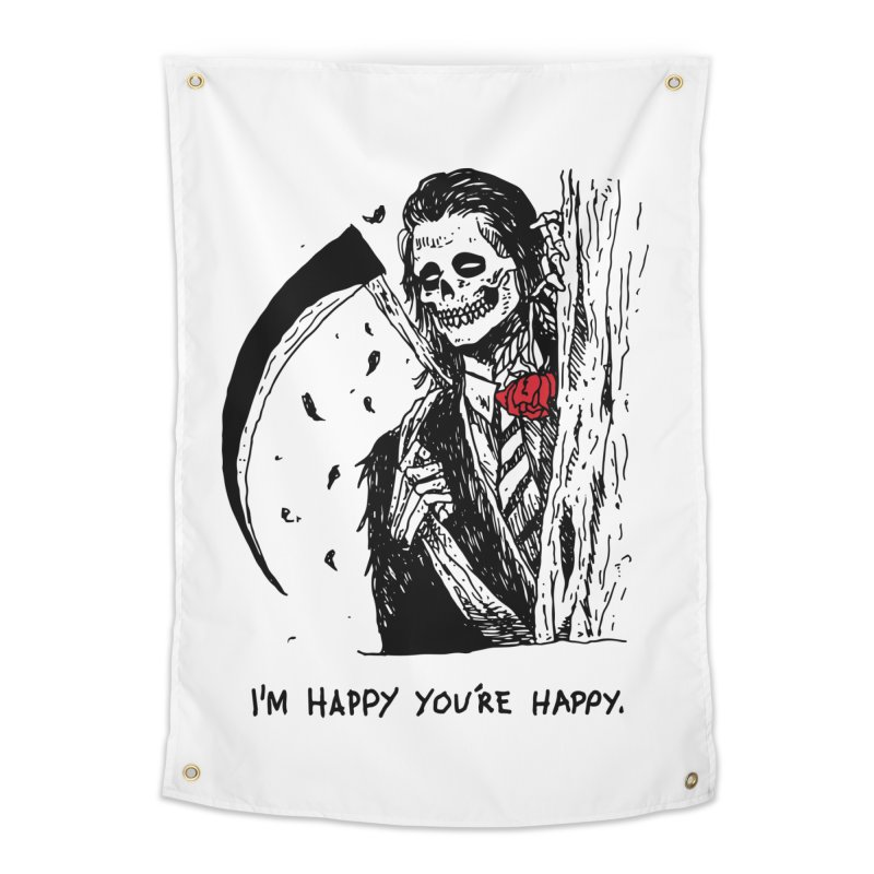 I'm Happy You're Happy Home Tapestry by skullpel illustrations's Artist Shop