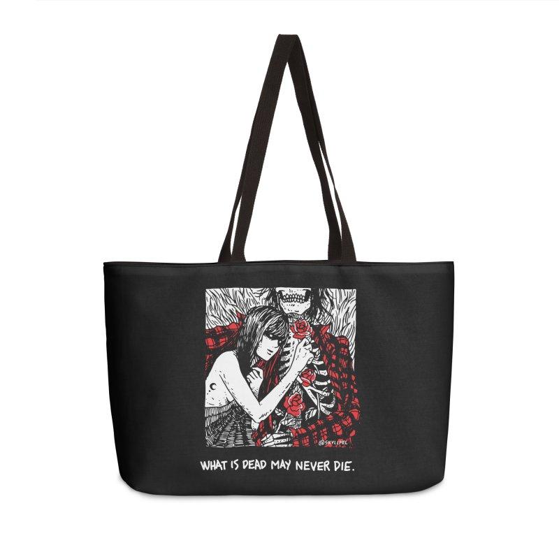 What Is Dead May Never Die Accessories Weekender Bag Bag by skullpel illustrations's Artist Shop