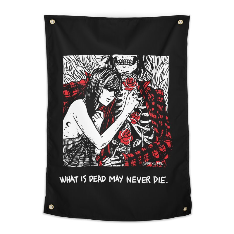 What Is Dead May Never Die Home Tapestry by Skullpel Illustrations's Artist Shop