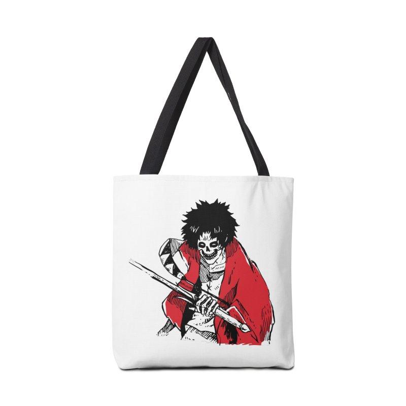 Bloodeh Samurai: Mugen Accessories Tote Bag Bag by skullpel illustrations's Artist Shop