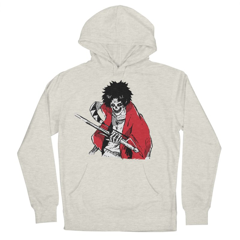 Bloodeh Samurai: Mugen Women's French Terry Pullover Hoody by skullpel illustrations's Artist Shop