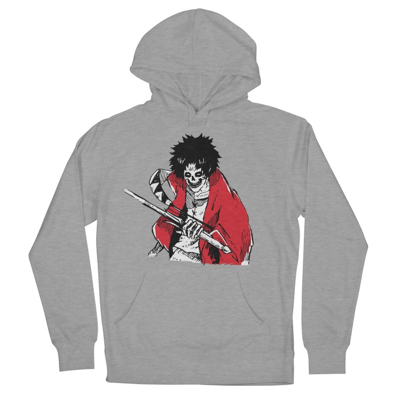 Bloodeh Samurai: Mugen Men's French Terry Pullover Hoody by skullpel illustrations's Artist Shop
