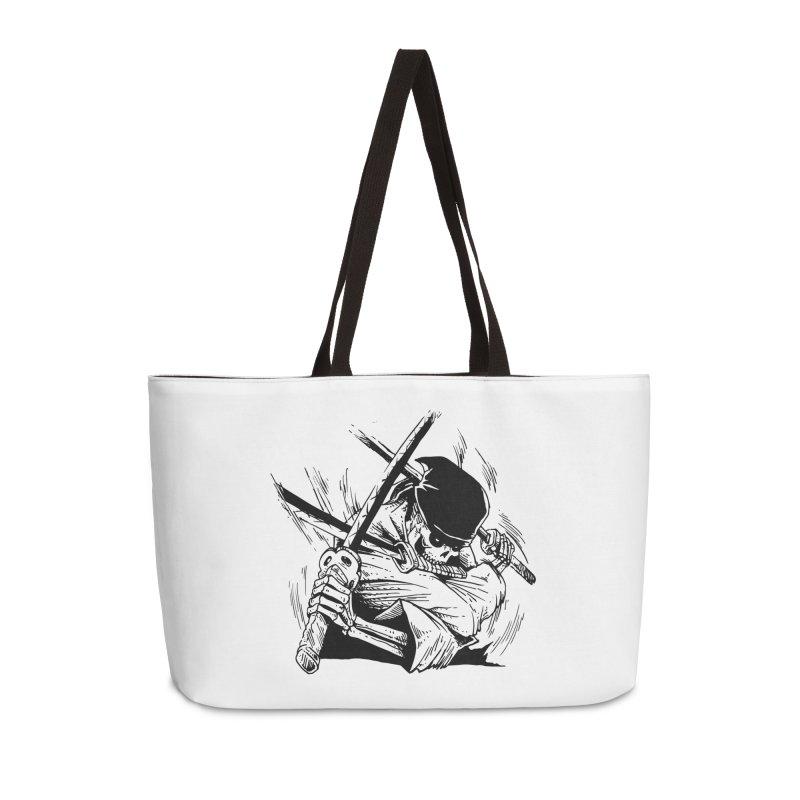 Bloodeh Samurai: Zoro Accessories Weekender Bag Bag by skullpel illustrations's Artist Shop