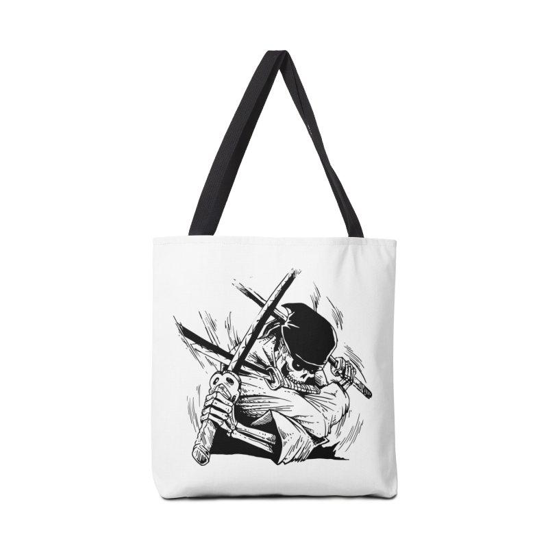 Bloodeh Samurai: Zoro Accessories Tote Bag Bag by skullpel illustrations's Artist Shop