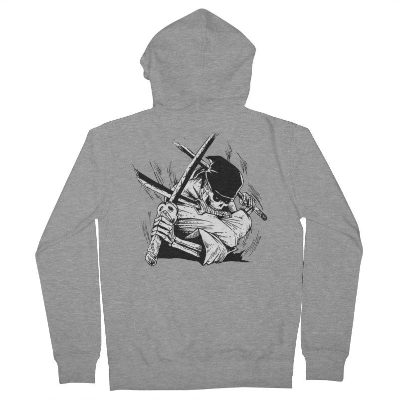 Bloodeh Samurai: Zoro Men's French Terry Zip-Up Hoody by skullpel illustrations's Artist Shop