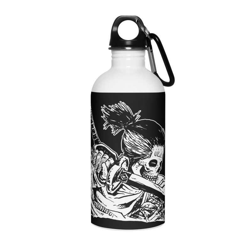 Bloodeh Samurai: Sekiro Wolf Accessories Water Bottle by Skullpel Illustrations's Artist Shop