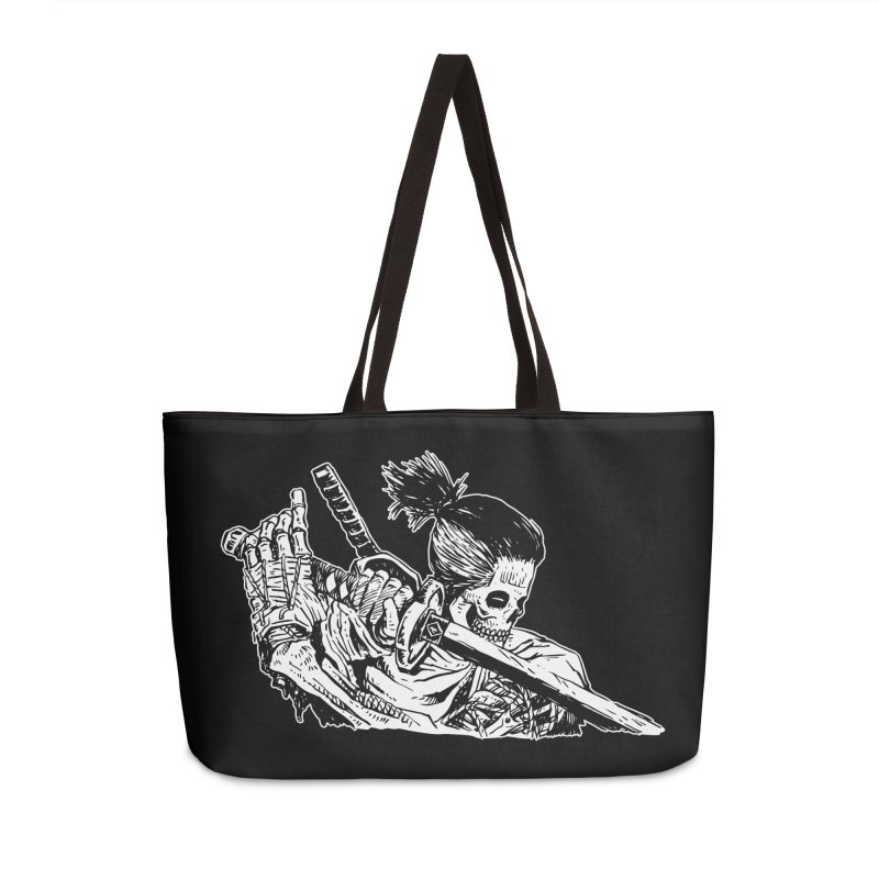 Bloodeh Samurai: Sekiro Wolf Accessories Weekender Bag Bag by skullpel illustrations's Artist Shop