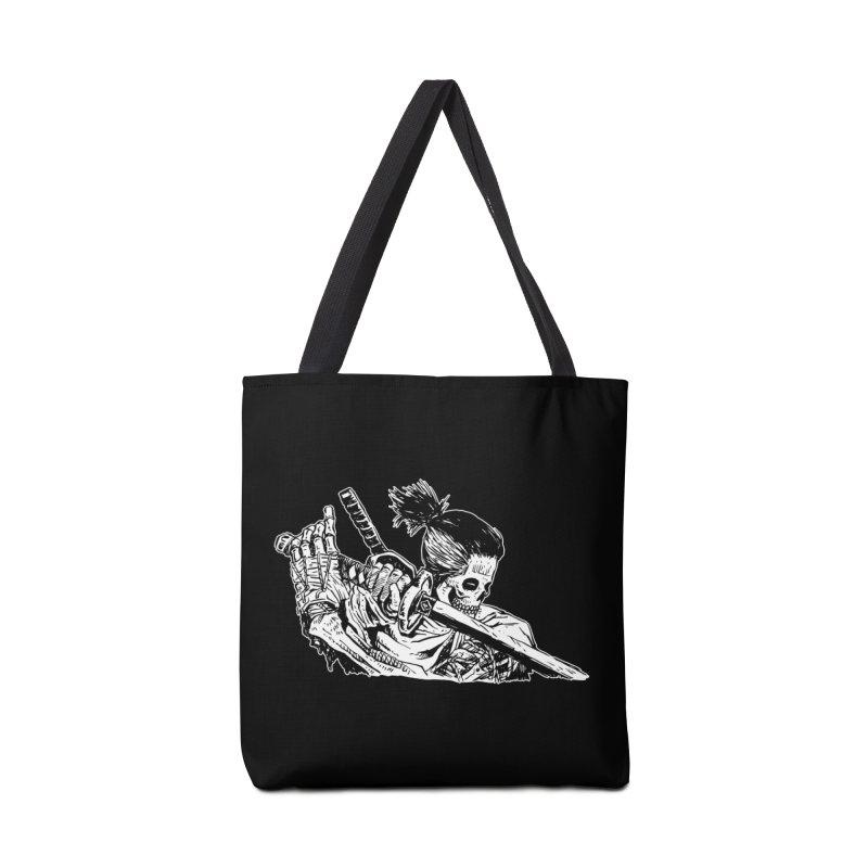 Bloodeh Samurai: Sekiro Wolf Accessories Tote Bag Bag by skullpel illustrations's Artist Shop