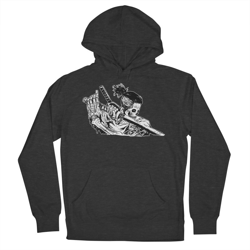 Bloodeh Samurai: Sekiro Wolf Women's French Terry Pullover Hoody by skullpel illustrations's Artist Shop