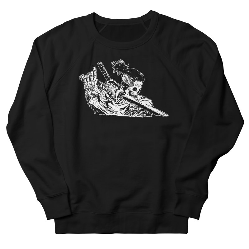 Bloodeh Samurai: Sekiro Wolf Women's French Terry Sweatshirt by skullpel illustrations's Artist Shop
