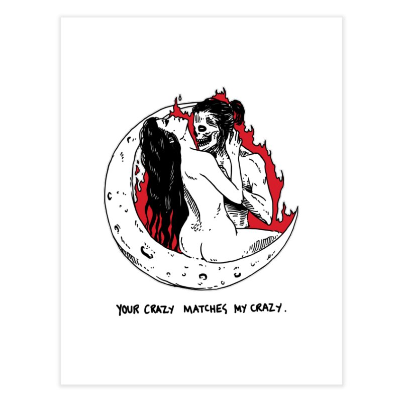 Crazy Level: Matched! Home Fine Art Print by Skullpel Illustrations's Artist Shop
