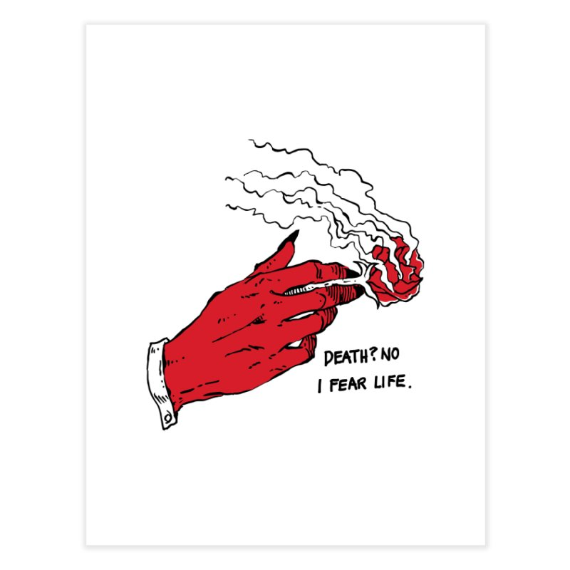 Death? No! Home Fine Art Print by Skullpel Illustrations's Artist Shop