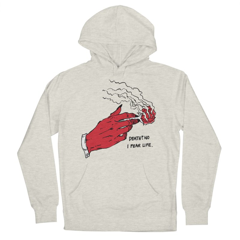Death? No! Men's French Terry Pullover Hoody by skullpel illustrations's Artist Shop
