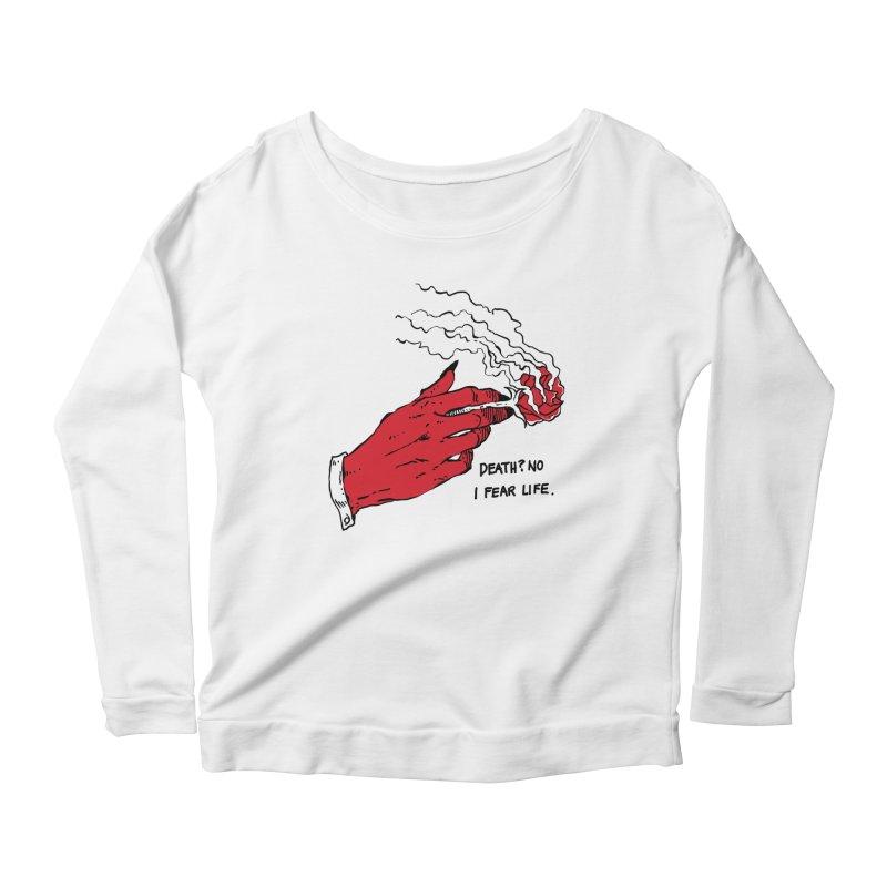Death? No! Women's Scoop Neck Longsleeve T-Shirt by Skullpel Illustrations's Artist Shop