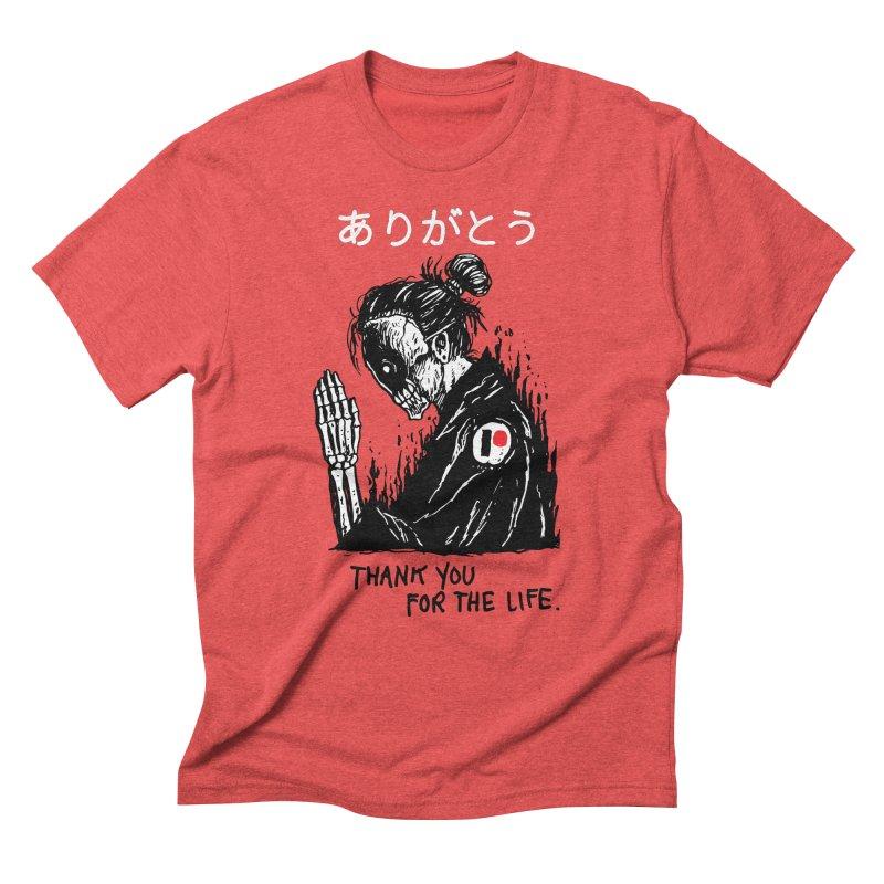 Thank You For The Life Men's Triblend T-Shirt by Skullpel Illustrations's Artist Shop