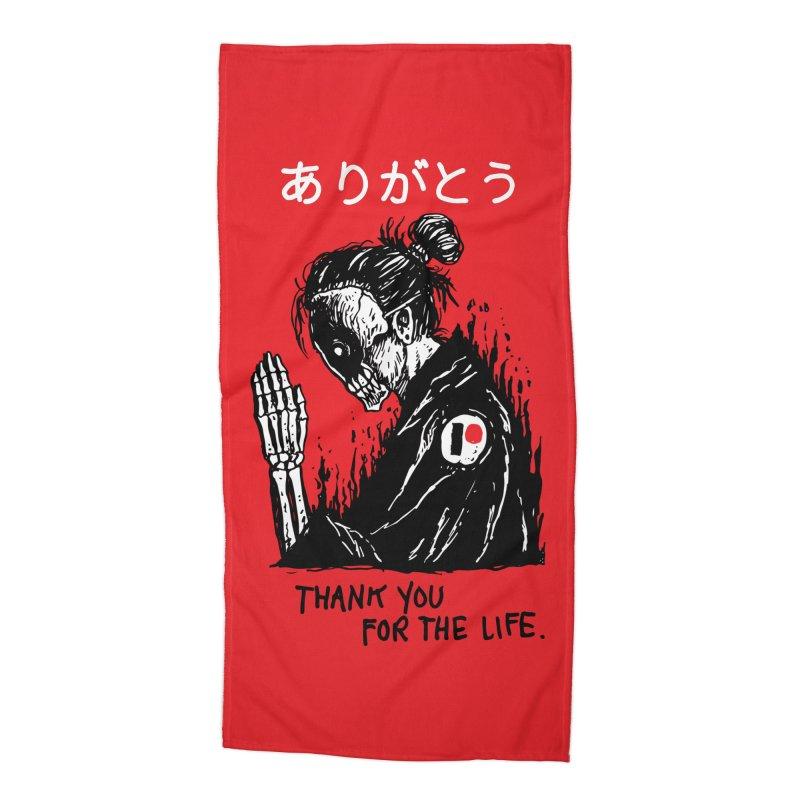 Thank You For The Life Accessories Beach Towel by Skullpel Illustrations's Artist Shop