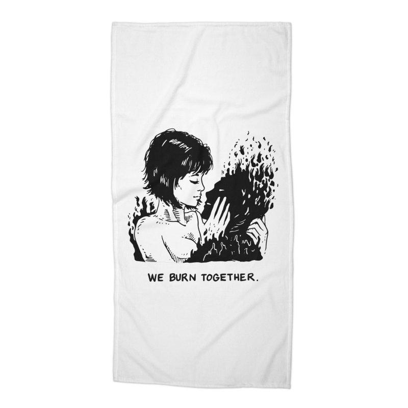 We Burn Together Accessories Beach Towel by Skullpel Illustrations's Artist Shop