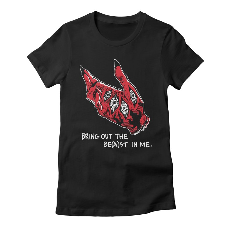 Bring The Be(a)st In Me. Women's Fitted T-Shirt by Skullpel Illustrations's Artist Shop