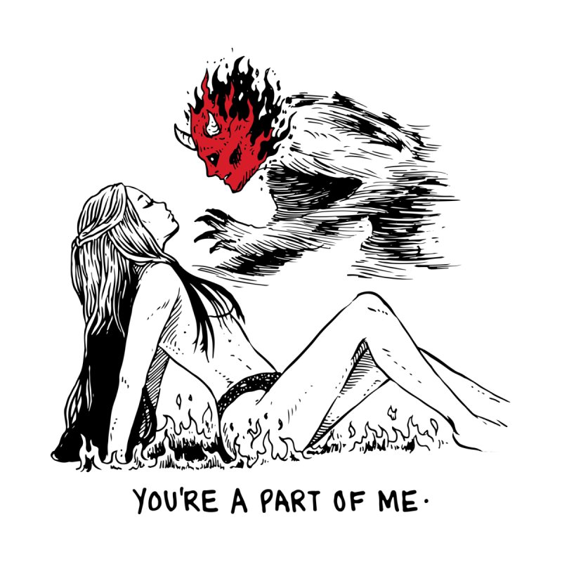 You Are A Part of Me Now by Skullpel Illustrations's Artist Shop