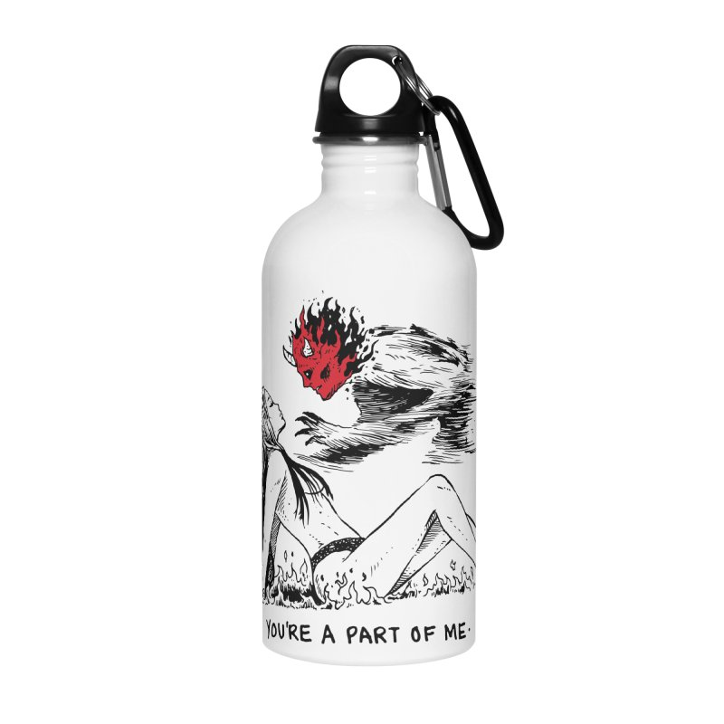 You Are A Part of Me Now Accessories Water Bottle by Skullpel Illustrations's Artist Shop