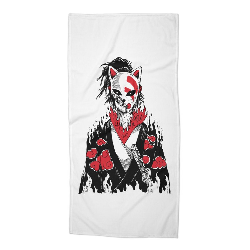 Broken Shinobi's Mask Accessories Beach Towel by Skullpel Illustrations's Artist Shop