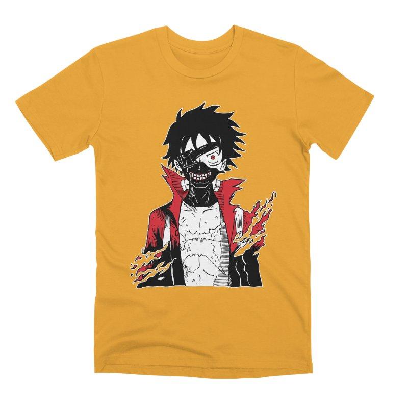 Animeta DNA Hybrid: Kaneki D. Luffy Men's Premium T-Shirt by Skullpel Illustrations's Artist Shop