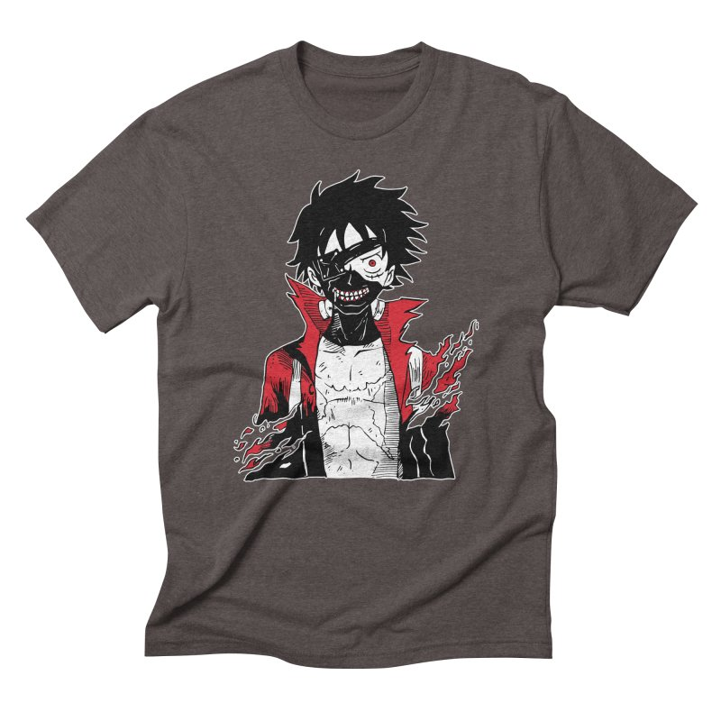 Animeta DNA Hybrid: Kaneki D. Luffy Men's Triblend T-Shirt by Skullpel Illustrations's Artist Shop