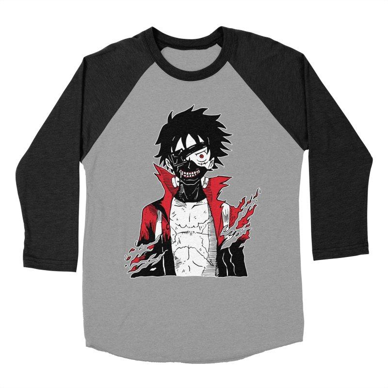 Animeta DNA Hybrid: Kaneki D. Luffy Women's Baseball Triblend Longsleeve T-Shirt by Skullpel Illustrations's Artist Shop