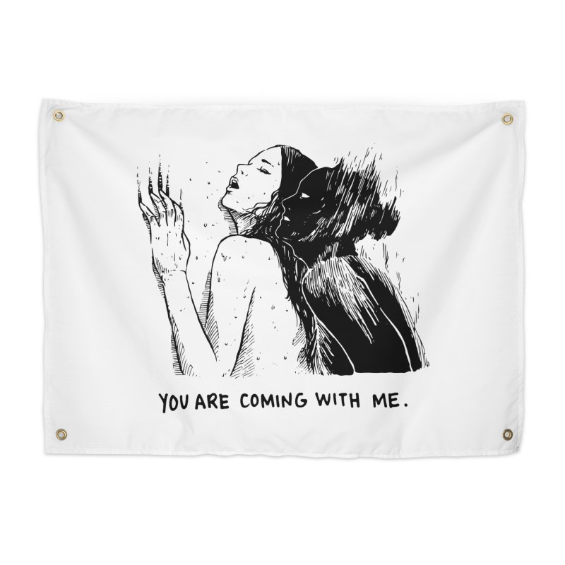 You, With Me. Home Tapestry by Skullpel Illustrations's Artist Shop