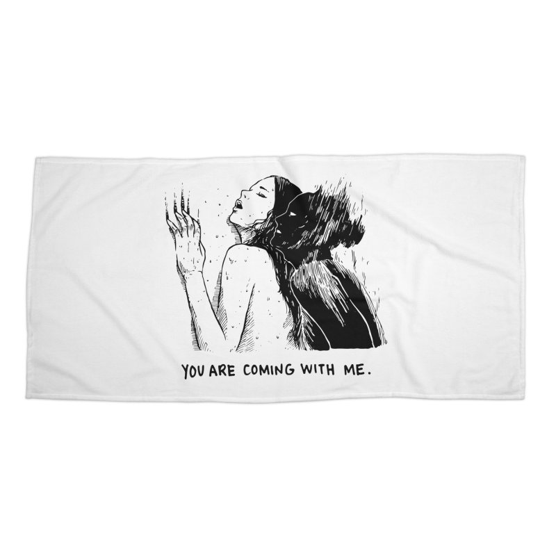 You, With Me. Accessories Beach Towel by Skullpel Illustrations's Artist Shop