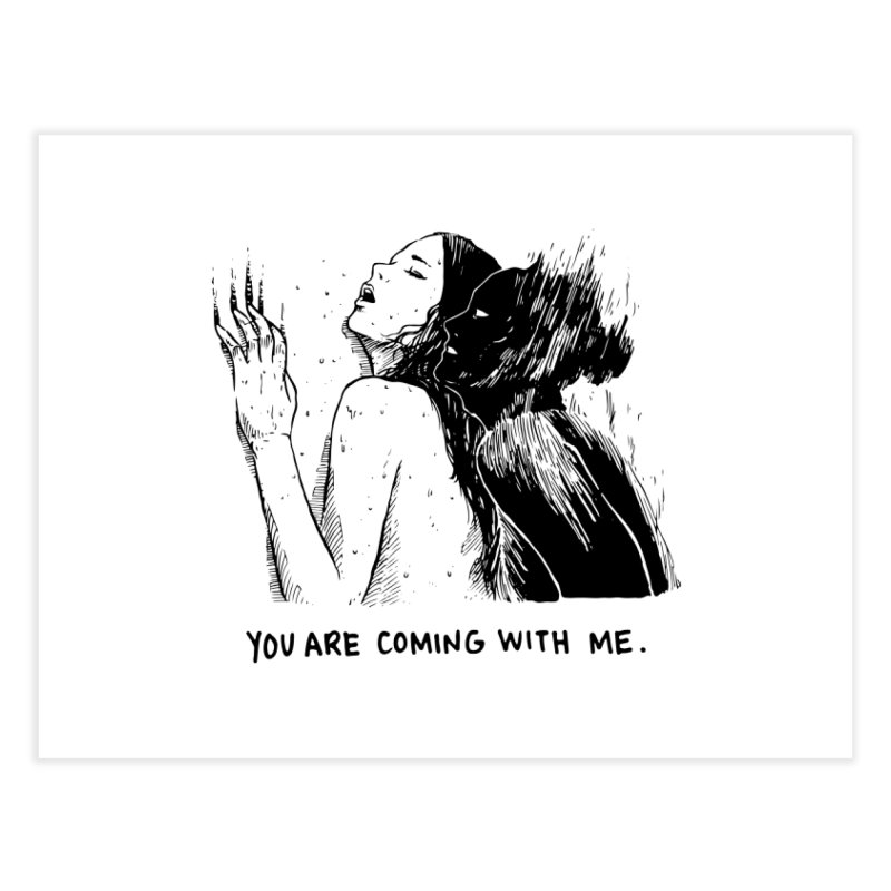You, With Me. Home Fine Art Print by Skullpel Illustrations's Artist Shop