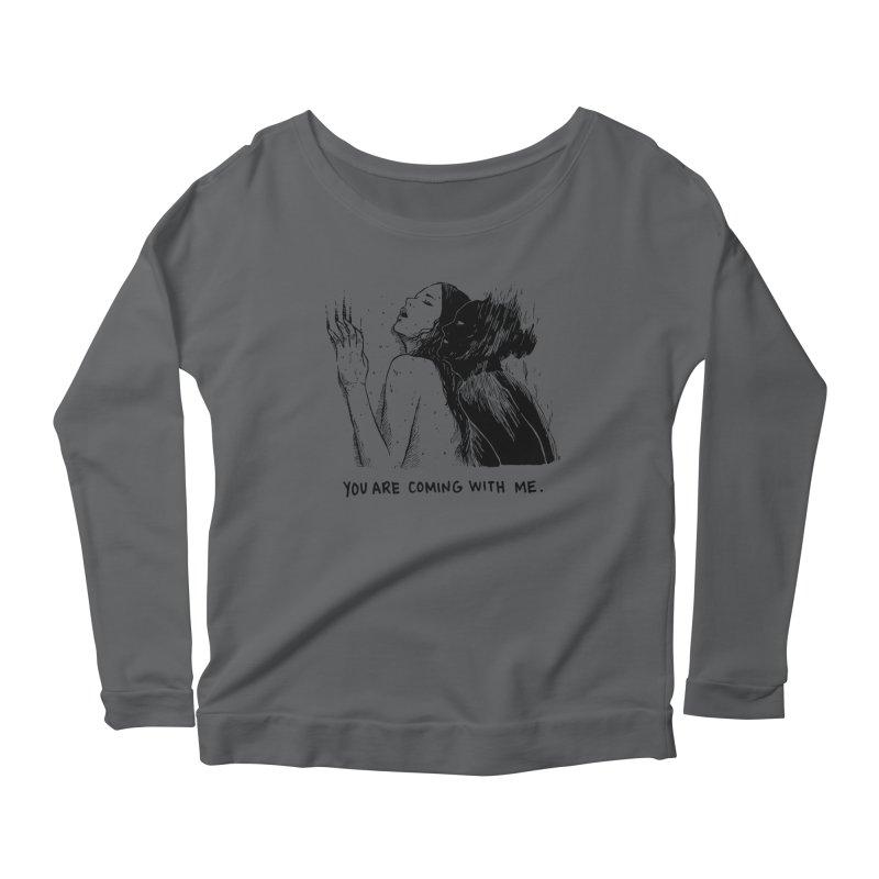 You, With Me. Women's Scoop Neck Longsleeve T-Shirt by Skullpel Illustrations's Artist Shop