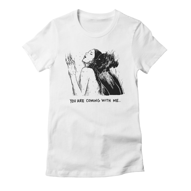 You, With Me. Women's Fitted T-Shirt by Skullpel Illustrations's Artist Shop
